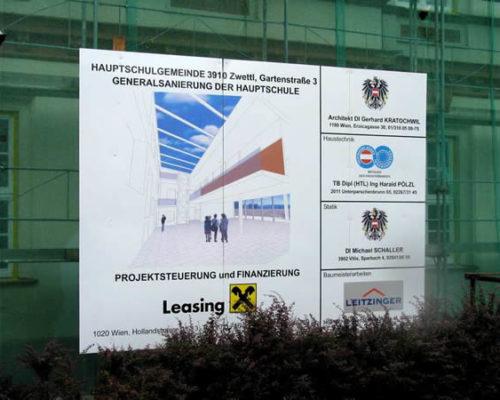 Leitzinger Bau – Hauptschule Zwettl Generalsanierung 3910 Zwettl