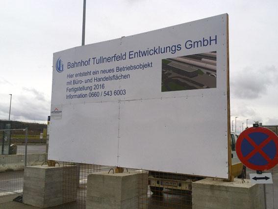 Leitzinger Bau – Betriebsgebäude beim Bahnhof Tullnerfeld Bahnhof Tullnerfeld Entwicklungs- und Betriebs GmbH