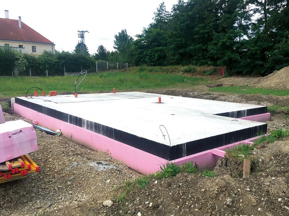 Leitzinger Bau – Errichtung einer Fundamentplatte Bachgasse 3451 Rust